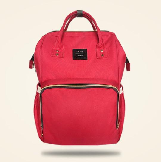 aef5e2ae4e0f Сумка рюкзак для мамы Land красная - Интернет магазин tsarsky-shop.com в  Киеве
