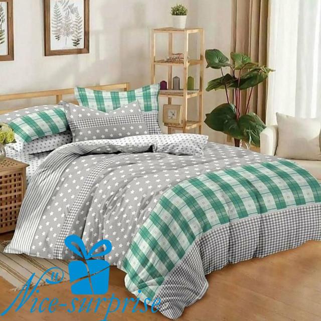 купить двойное постельное белье из поплина в Киеве