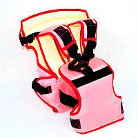 Рюкзак-кенгуру  №12 розовый сидячий