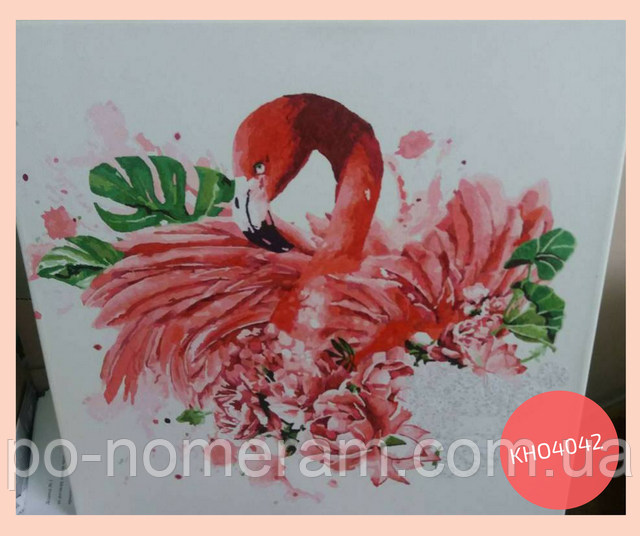 нарисованная картина по номерам фламинго
