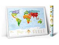 "Скретч карта мира ""Travel Map Kids Animals"""