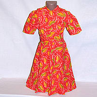 Летнее платье детское, хлопок на 10 лет