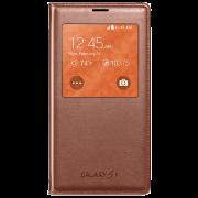 Чехол Samsung S5 mini EF-CG800BFEGRU розово-коричневый с окном