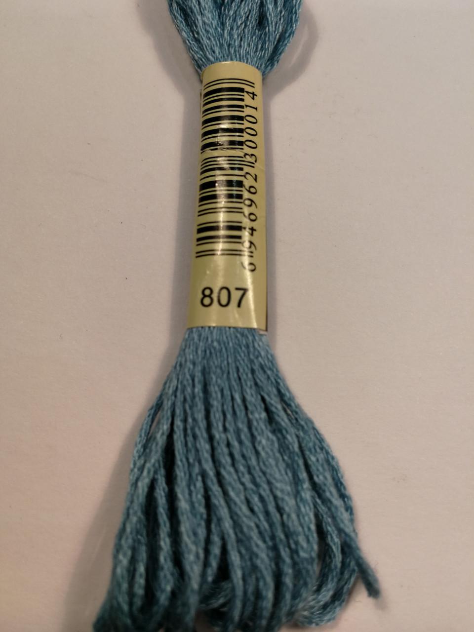 Мулине СХС 807 синий переливчатый
