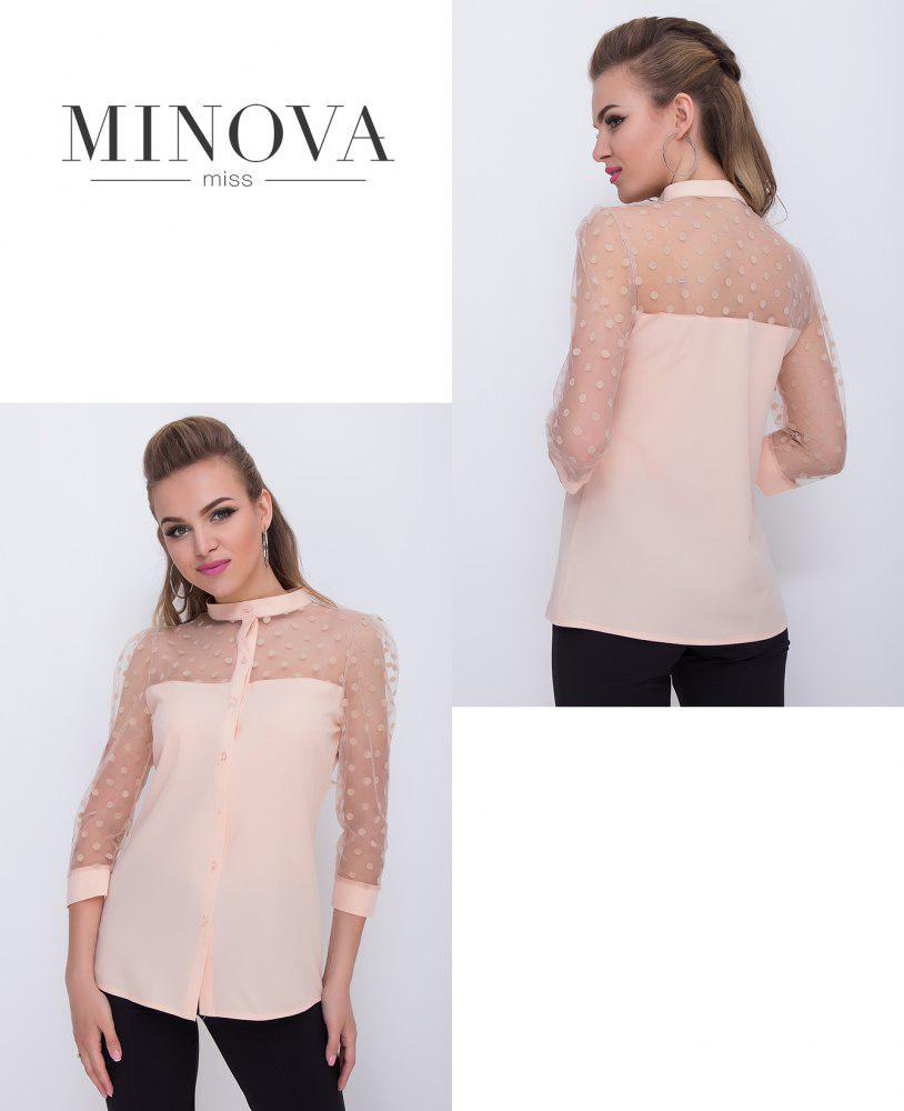 2b8286b613f Нарядная блузка с сеточкой купить недорого в интернет-магазине Прямого  поставщика ТМ Минова р.