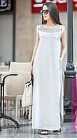 Длинное прямое летнее трикотажное  платье