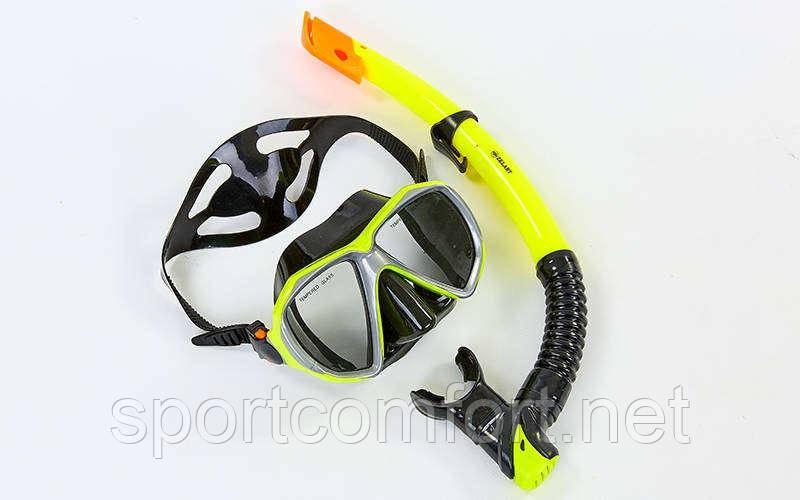 Набор  для плавания Zelart m208 с закаленным стеклом и силиконом