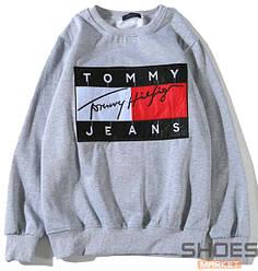 Свитшот Tommy Jeans Big Logo Grey (ориг.бирка)