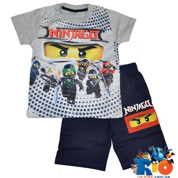 Летний костюм Lego (футболка, шорты), 100% cotton, для мальчика ростом 98-128 см (5 ед в уп)