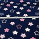 Хлопковая ткань бязь звезды (пряники) белые, розовые, серые с зигзагами внутри на синем, фото 4