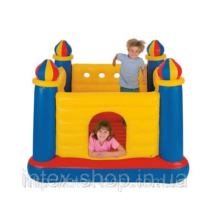 Надувной игровой центр-батут Замок Intex 48259 Castle Bouncer (175х175х135 см. ), фото 2
