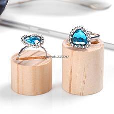 Подставки для колец (5шт в наборе) деревянные держатели круглые, фото 2