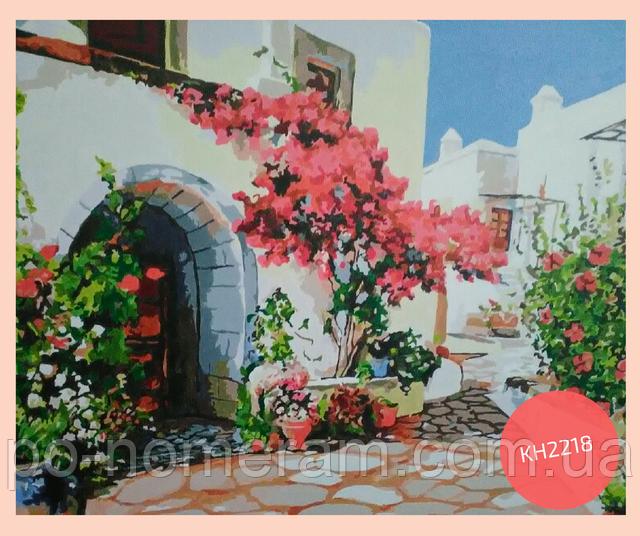 нарисованная картина по номерам греция
