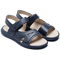 Синие сандалии Солнце для мальчика, на липучках, размер 32-37