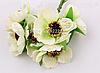 Декоративные цветы дикого мака диаметр 4.5-5 см, 72 шт/уп., бело-зеленого цвета оптом