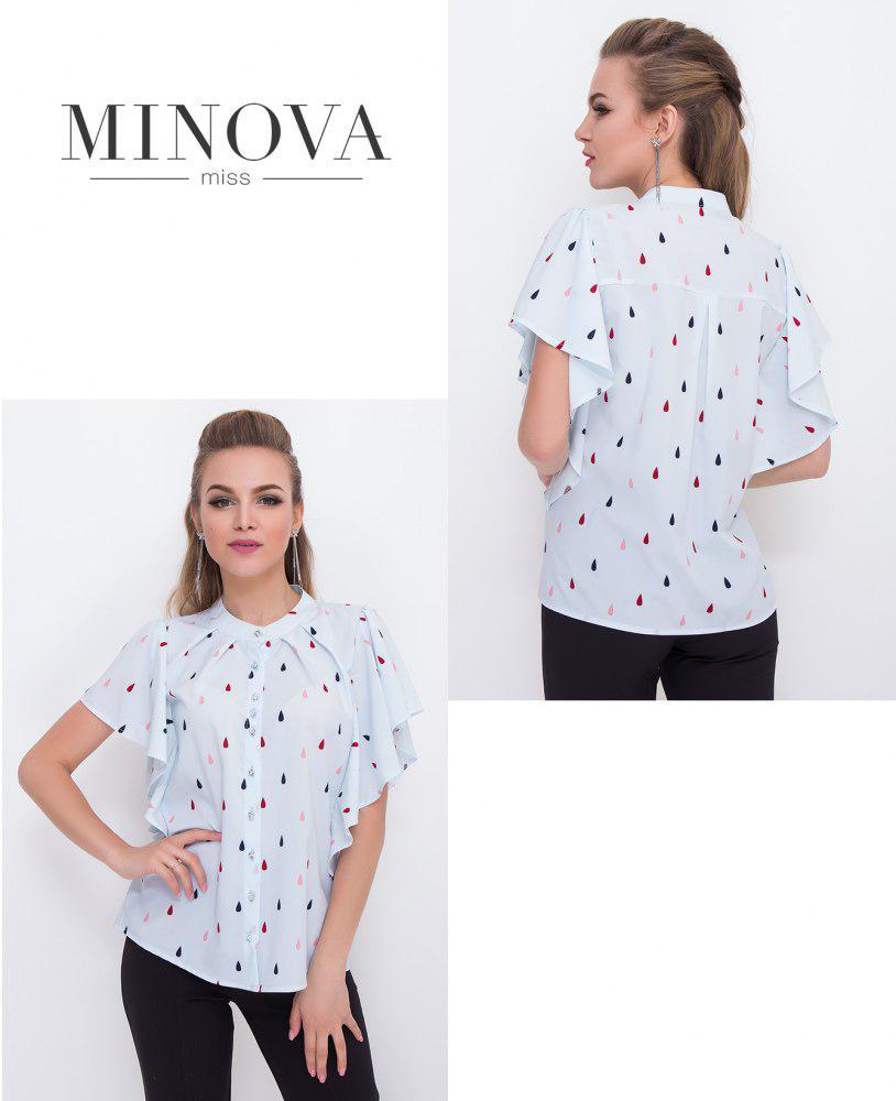 b1714a3cfbe Нарядная летняя блузка купить недорого в интернет-магазине Прямого  поставщика ТМ Минова р.42-50