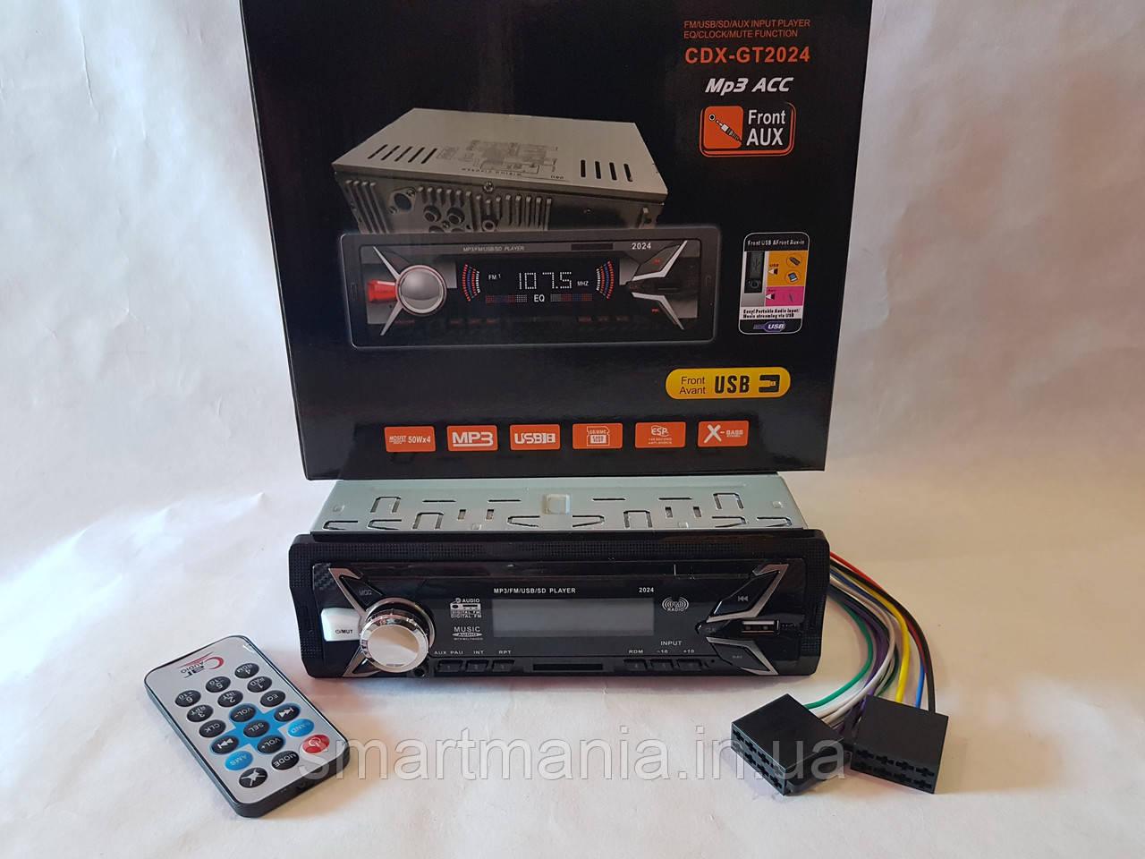 Авто Автомагнитола MP3, CDX-GT2024 (USB, SDHC, AUX, FM)