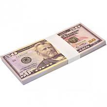Деньги сувенирные 50 долларов (80шт в пачке)