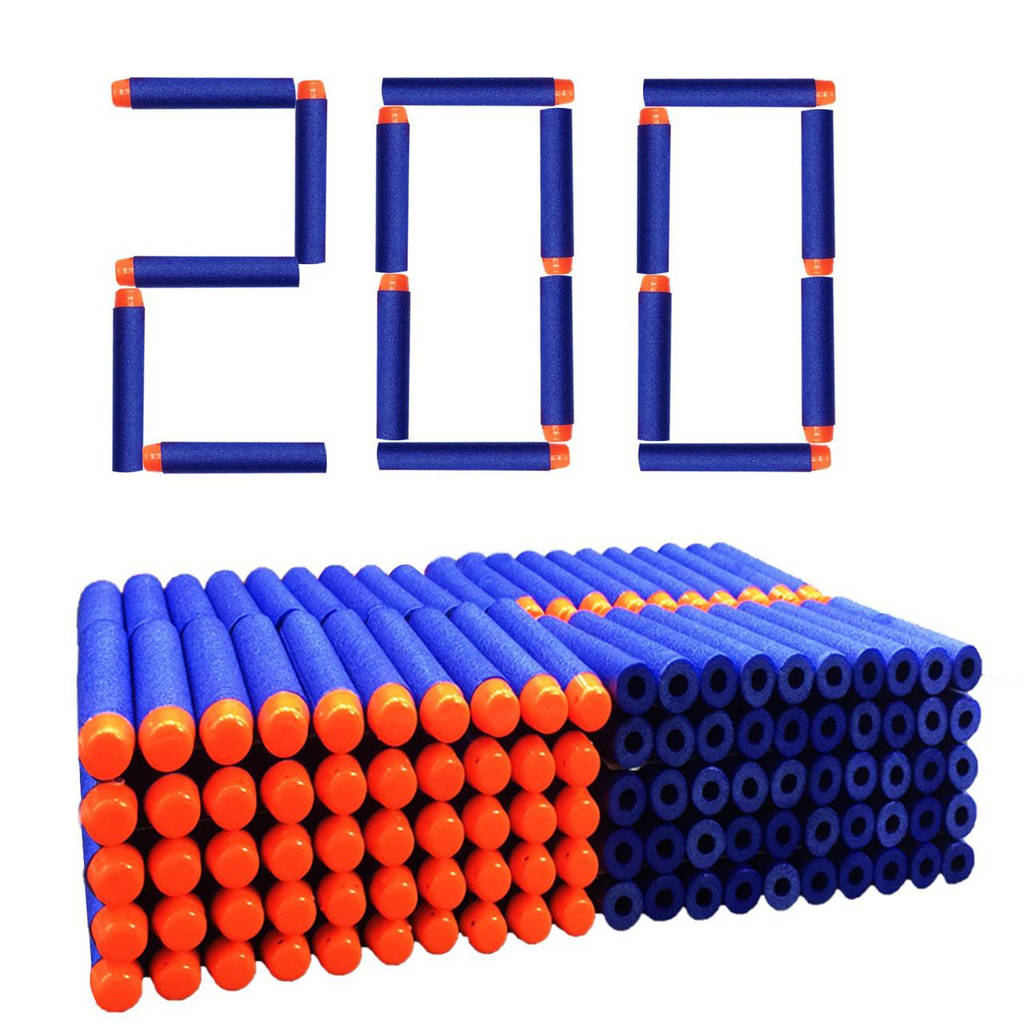 Набор из 200 стрел (мягкие пули) для игрушечного оружия Nerf N-Strike Elite
