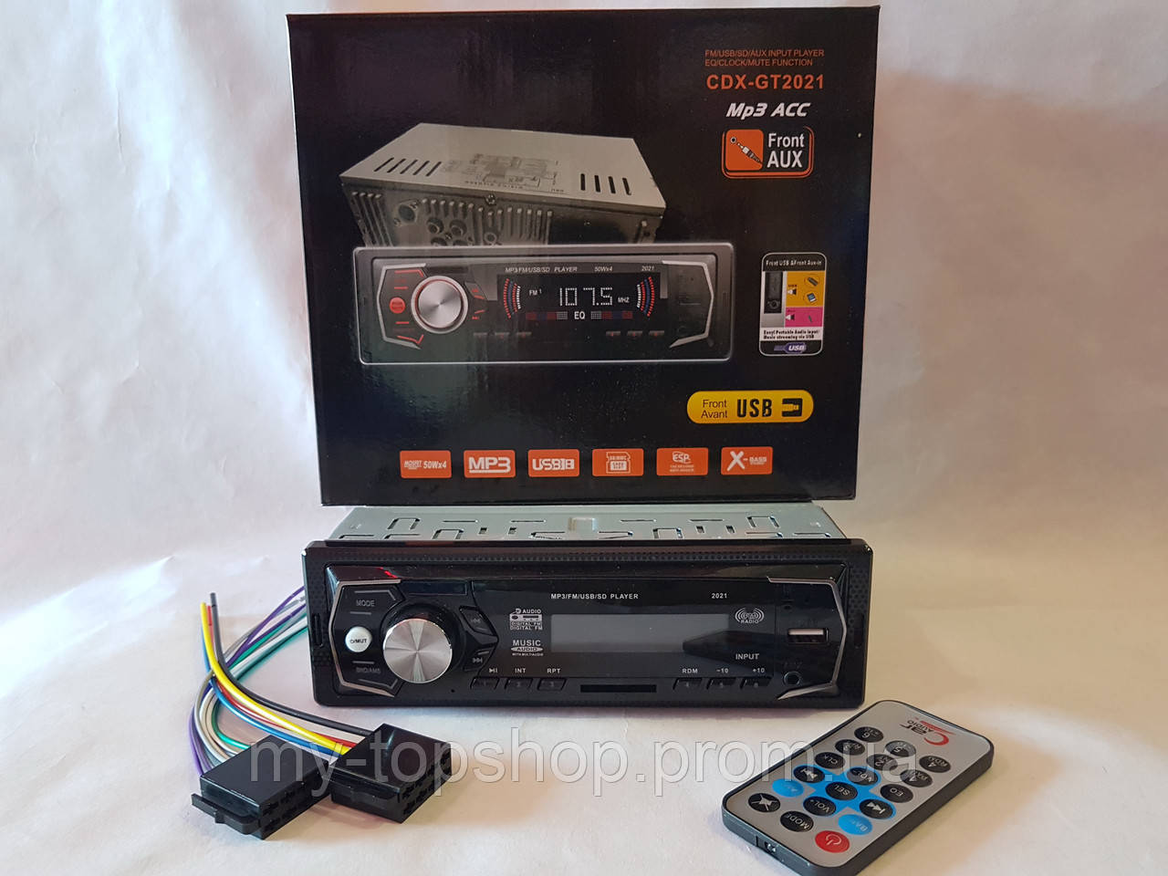 Авто Автомагнитола MP3, CDX-GT2021 (USB, SDHC, AUX, FM)