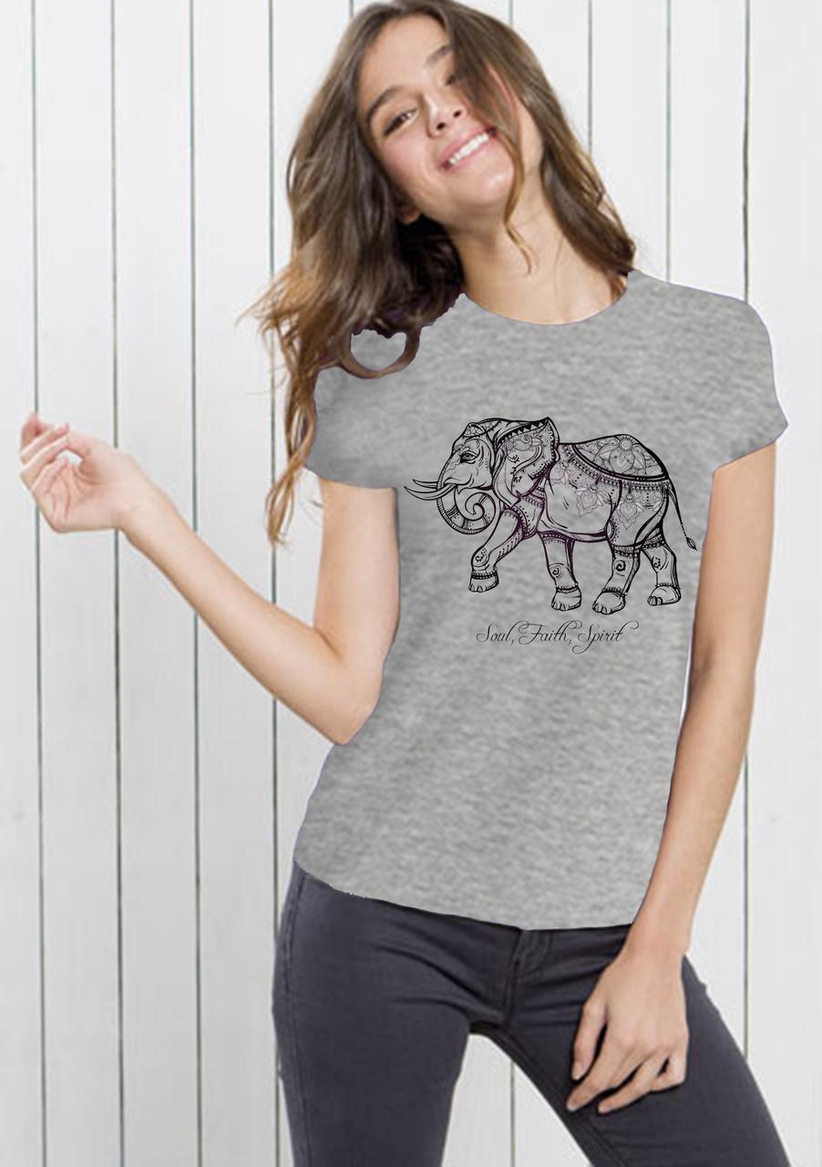 Футболка женская Индийский слон