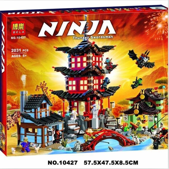 Конструктор Bela 10427 Ninja Ниндзя Ninjago Ниндзяго Храм Аэроджитцу 2031 детали