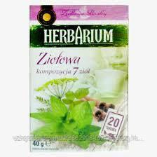 Чай с травами Herbarium Ziotowa kompozycja 7 ziot  30 пакетов.