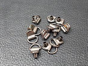 Петля для шнурков Итальянская цвет темный никель