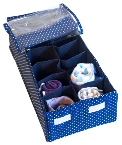 Органайзер для шарфиков/колгот с квадратными ячейками с крышкой Звездное небо