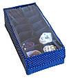 Органайзер для шарфиков/колгот с квадратными ячейками с крышкой Звездное небо, фото 2