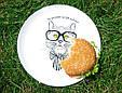 """Тарелка с котом """"Не делайте из еды культа!"""", фото 3"""