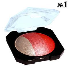 """Тени """"Laviar"""" № 6608 Белые Розовые Запеченные Трехцветные Компактные"""