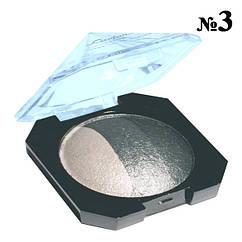 """Тени """"Laviar"""" № 6608 Серые Белые Запеченные Трехцветные Компактные Тон 03"""