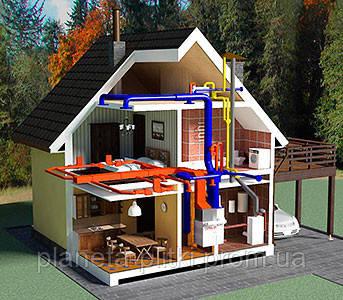 Воздушная система отопления коттеджа