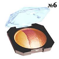 """Тени """"Laviar"""" № 6608 Шоколадные Кофейные Запеченные Трехцветные Компактные Тон 03"""