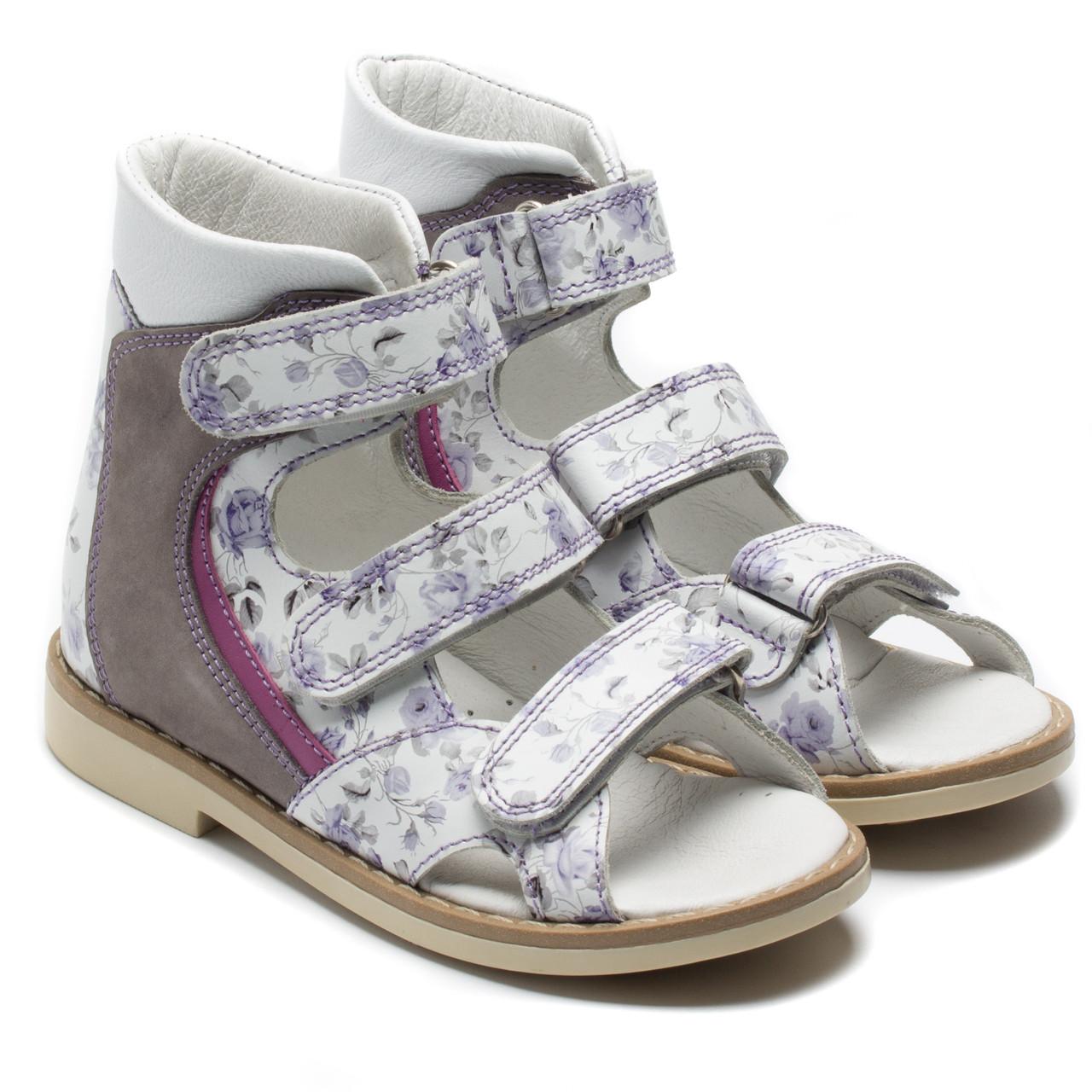 Босоножки FS Сollection кожаные для девочки, розовые, размер 20-30