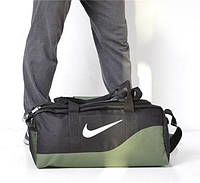 Дорожная сумка Nike 115436 большая 53х27х27, см черная с зеленым спортивная багажная текстильная