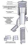 Вент вихід утеплений Kronoplast KBNO для металочерепиці низький профіль хвиля до 24 мм з ковпаком, фото 7