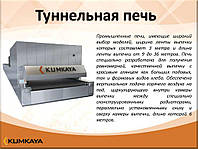 Одноярусная туннельная печь с сетчатым конвеером   TU 2512 Kumkaya