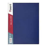 Папка на 40 файлов А4 пластиковая Axent 1040 дисплей-книга синяя, фото 1