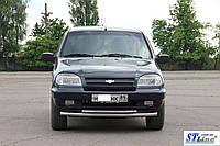 Защита переднего бампера Chevrolet Niva (10 + )Bertone)