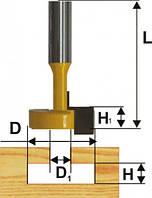 Фреза пазовая конструкционная Т-образной ф12.7, хв.8мм (арт.10516)