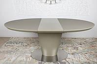 Овальный раскладной стол 140/180 GEORGIA мокко, столешница МДФ, каленое стекло, Nicolas