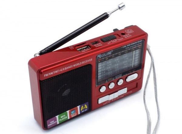 """Радиоприемник c USB/SD и аккумулятором """"GOLON"""" RX-181"""