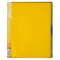 Папка на 40 файлов А4 пластиковая Axent 1140 дисплей-книга желтая