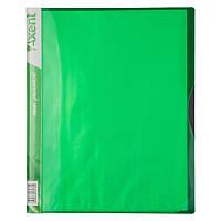 Папка на 40 файлов А4 пластиковая Axent 1140 дисплей-книга салатовая