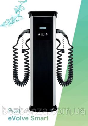 Зарядная станция CIRCONTROL Post eVolve Smart-T 22кВт+22кВт, 32А+32А, 400 В, 2хТип 2