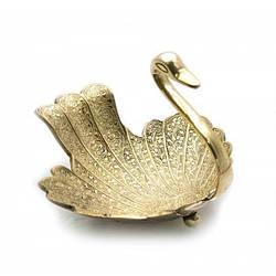 "Менажница ""Лебедь"" бронза (13,5х16,5х17,5 см) ( 23534)"