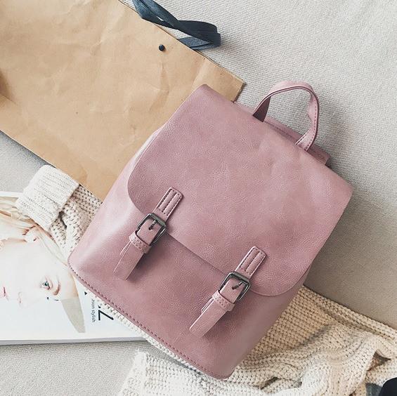 a6c96884b8e1 Женский рюкзак-сумка из качественной экокожи розовый купить по ...