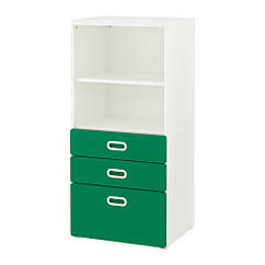 Стеллаж с ящиками IKEA STUVA / FRITIDS  60x50x128 см белый зеленый 292.622.37